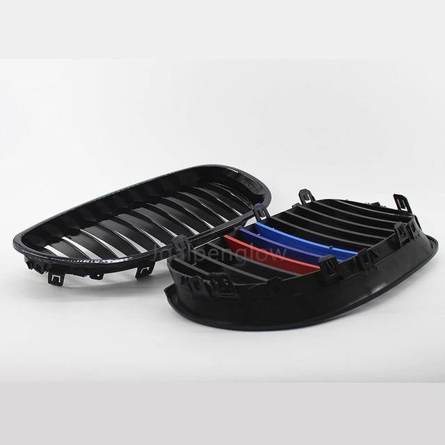 Front Grossy Black M color Sport Kidney Racing Grille Grill For 2004-2009 BMW E60 E61  520d 520i 523li 525li 530li
