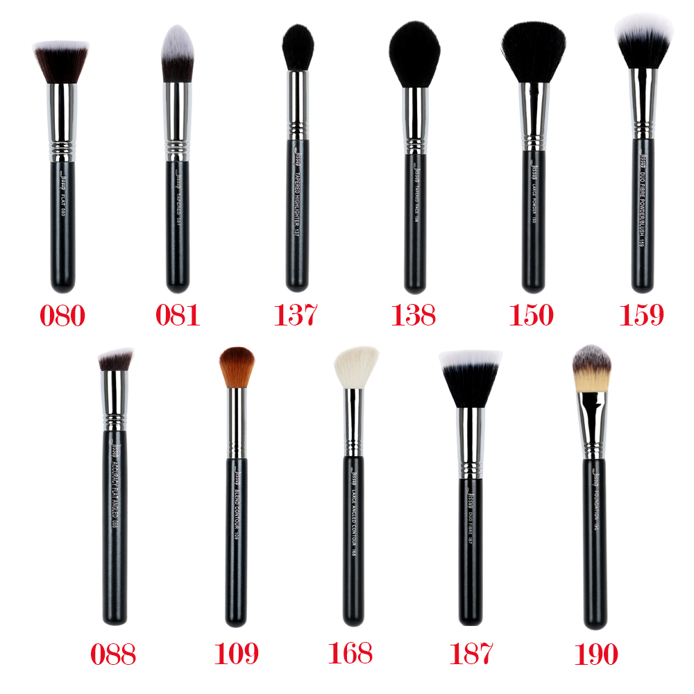 Jessup 1pcs Professional Synthetic-natural Hair Wooden Handle Powder Foundation Contour Highlighter Single Face Makeup Brushes beili single 104 flat kabuki single synthetic hair face для умывальника румяна черная макияжная кисть