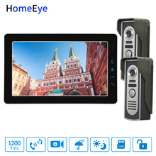 HomeEye 9inch 4-Wire Video Door Phone Video/Audio Dual-way Intercom Night Vision 1200TVL Multi-language OSD Menu Remote Unlock