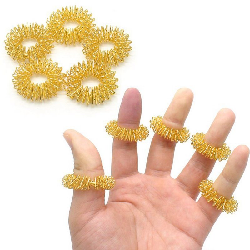 5 PCS Finger Massage Ring Acupuncture Rings Health Care Body Massager Hand Relax Beauty Hand Skin Care