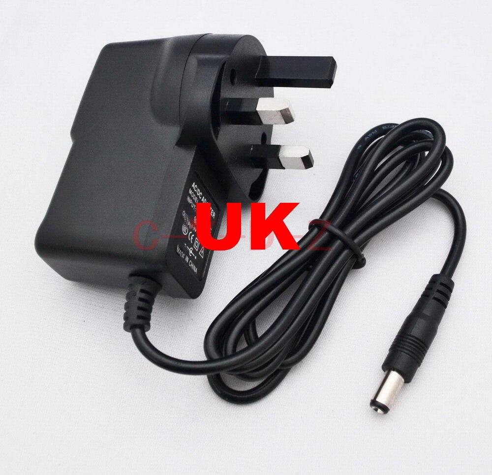 50 шт. 9V1A AC 100 V-240 адаптер конвертер DC 9 V 1A/1000mA Питание вилка переменного тока стандарта Великобритании/DC 5,5 мм x 2,1 мм
