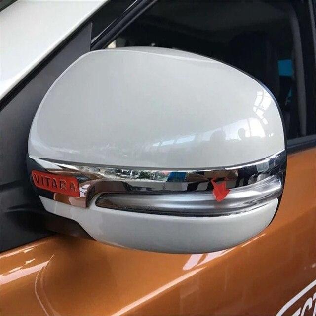 Car Styling ABS Chrome Rear View Mirror Decoration Trim For Suzuki VITARA 2015 2016 2017 Side Mirror Cover Trim Car Accessories