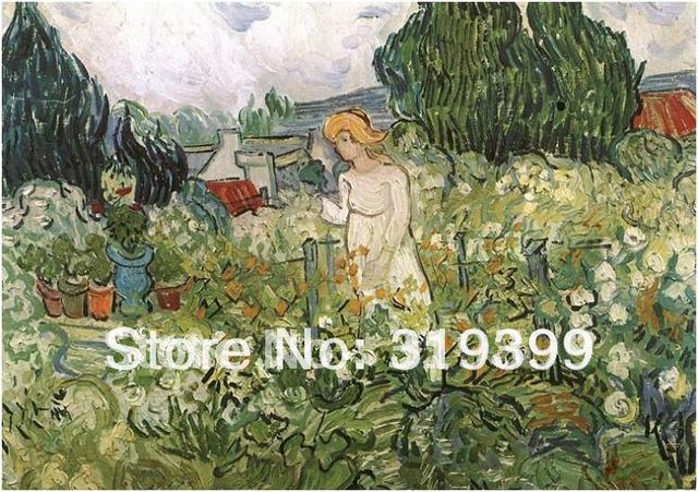 Merveilleux 100% Handmade Vincent Van Gogh Oil Painting Reproduction,Marguerite Gachet  In The Garden,