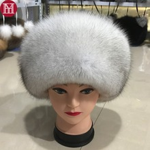 Fashion New Style Luxury Winter Russian Natural Real Fox Fur Hat 2020 Women Warm Good Quality 100% Genuine Real Fox Fur Cap