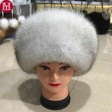 Moda novo estilo de luxo inverno russo natural real raposa pele chapéu 2020 mulheres quente boa qualidade 100% genuíno real raposa pele boné