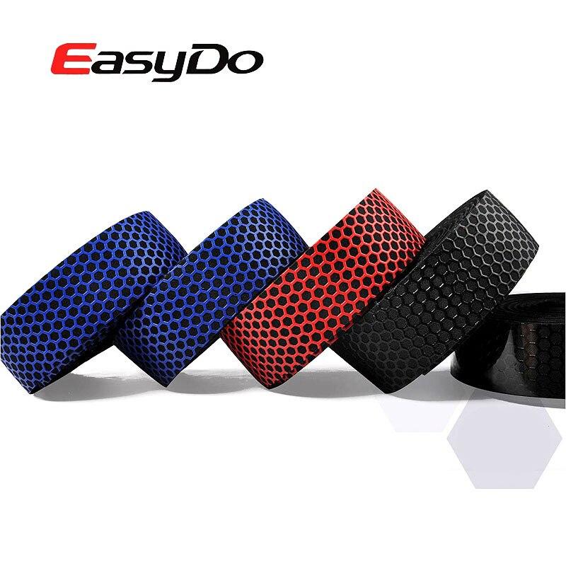 EasyDo 1 Par Estrada Bicicleta Guiador Fita De Veludo Microfibra + 2 tampões para os ouvidos Cinto Favo De Mel 3D À Prova D' Água Ciclismo Da Bicicleta Da Bicicleta Handle Bar fita