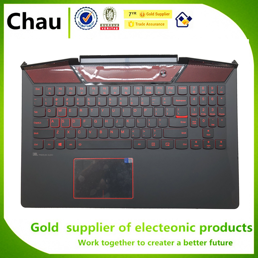 New For Lenovo Legion Y720 Y720 15 Y720 15IKB Upper Case Palmrest Cover Keyboard US Backlit Upper Case Touchpad