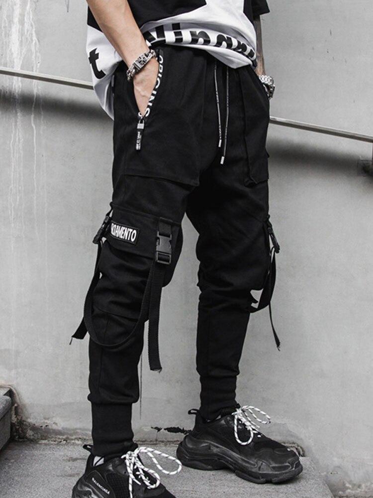Men High Street Fashion Slim Fit Harem Pant Streetwear Hip Hop Dancing Casual Pant Male Cargo