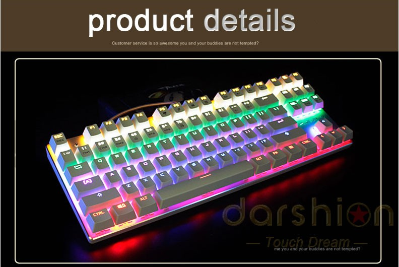 Keys Mechanical 87/104 Blue/Black/Red 5