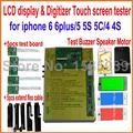 8 en 1 pantalla LCD y Digitalizador Tester prueba de panel de la pantalla Táctil junta para iphone6 6 plus 4 4S 5 5S 5C, altavoz buzzer Vibrador motor
