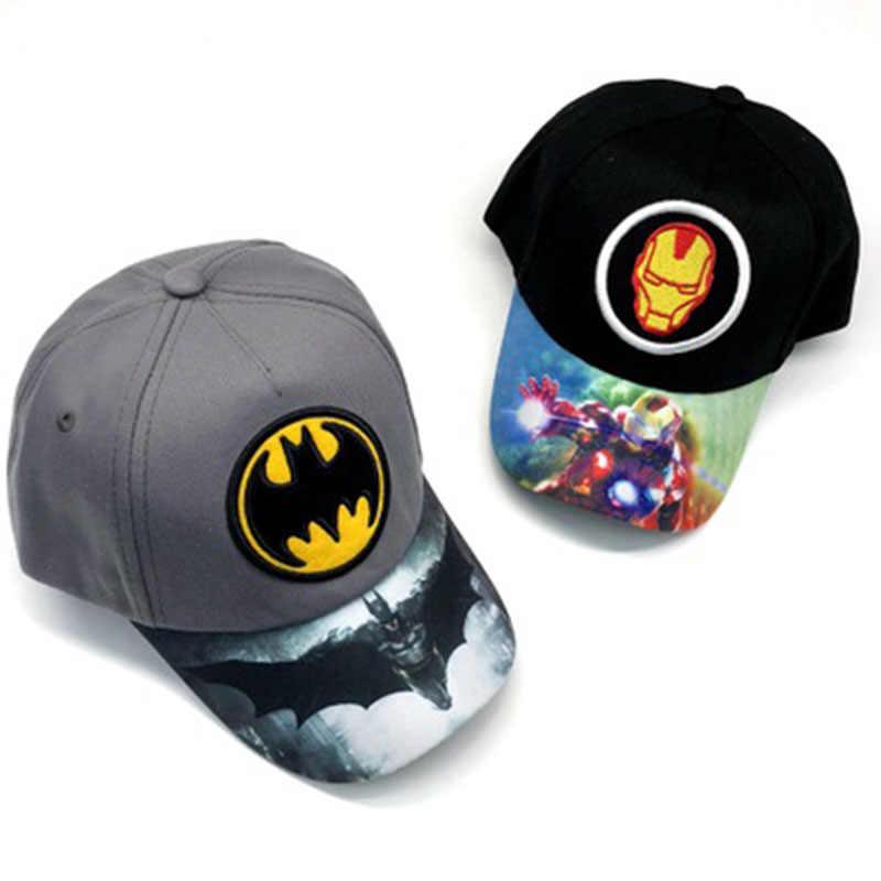 Toptan satış Avenger Endgame çocuk kız ayarlanabilir beyzbol şapkası Cosplay demir adam düz Hip Hop şapka seyahat açık güneş şapkası