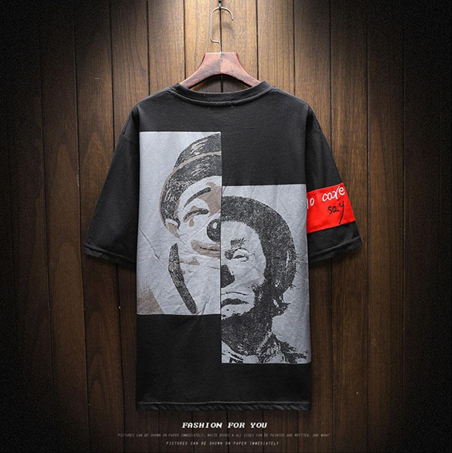 FASHION TEES Round Neck Short Sleeve Cotton T-Shirts Printing Pattern Slim Fit Mens Tshirts Hip Hop Tees Summer Male Tops M-5XL 1