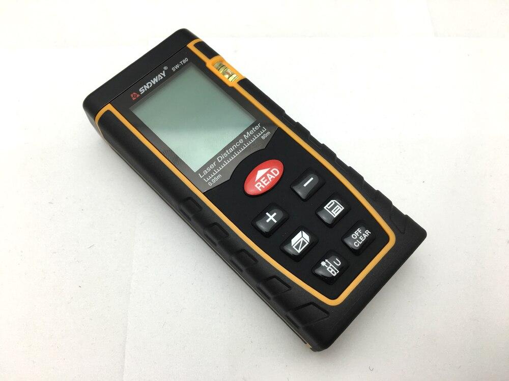 Laser Entfernungsmesser Und Wasserwaage : Sndway t laser abstand meter entfernungsmesser mt ft trena