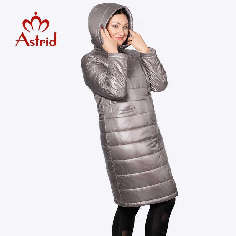 Астрид 2019 Весна Зима Для женщин куртка ветрозащитный Теплый с капюшоном тонкий хлопок Для женщин s теплая куртка с капюшоном Новая коллекция AM-2065