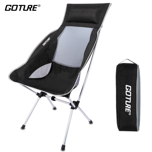 high folding chair orange side goture brand fishing 1000d oxford fabric super lightweight back with carry bag