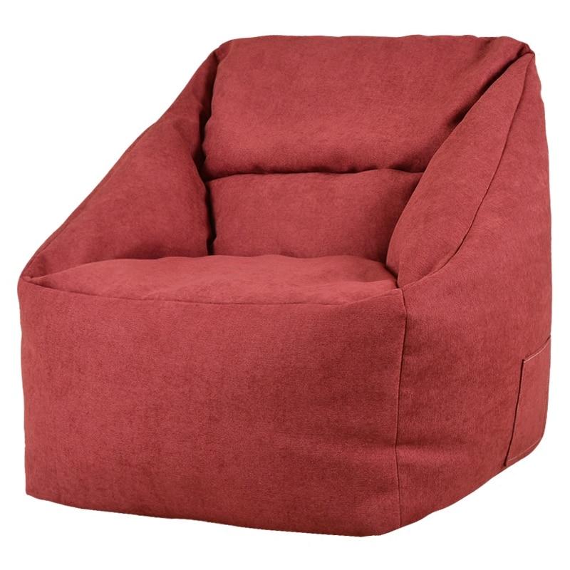 Hot Sale Bean Bag Sofas Solid Fabric Living Room Furniture Lazy Bean Bag Chair Portable Comfortable Beanbag Filling Chaise Beds Bean Bag Sofas     -