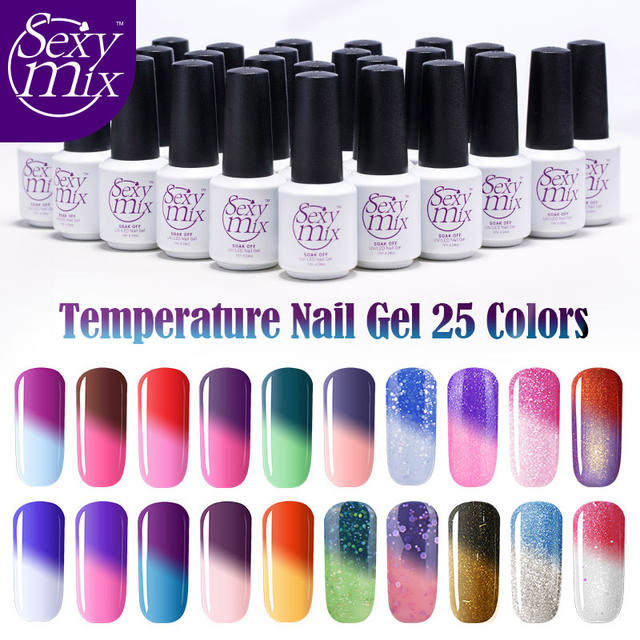 Y Mix Temperature Change Chameleon Make Up Color Changing Uv Nail Gel Polish Long Lasting