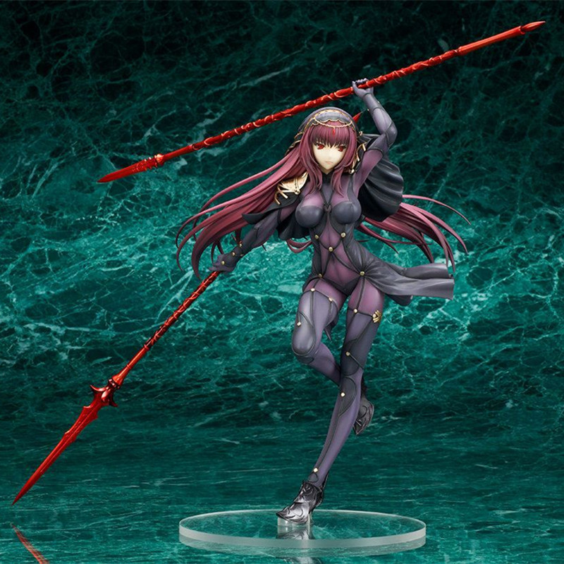 Fate/Stay Night Action Figures Fate Grand Order Lancer Scathach Figure Toy 25CM Aquamarine Fate Anime Model Fate/Grand Order with fate conspire onyx court 4