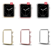 For Apple watch case band 40mm 44mm series 4 Aluminum alloy Frame strap bumper For iwatch 3 2 1 case cover shell 38mm 42mm silicone cover for apple watch case 42mm 38mm 40mm 44mm sport band frame rubber soft case for iwatch series 4 3 2 1 back cover