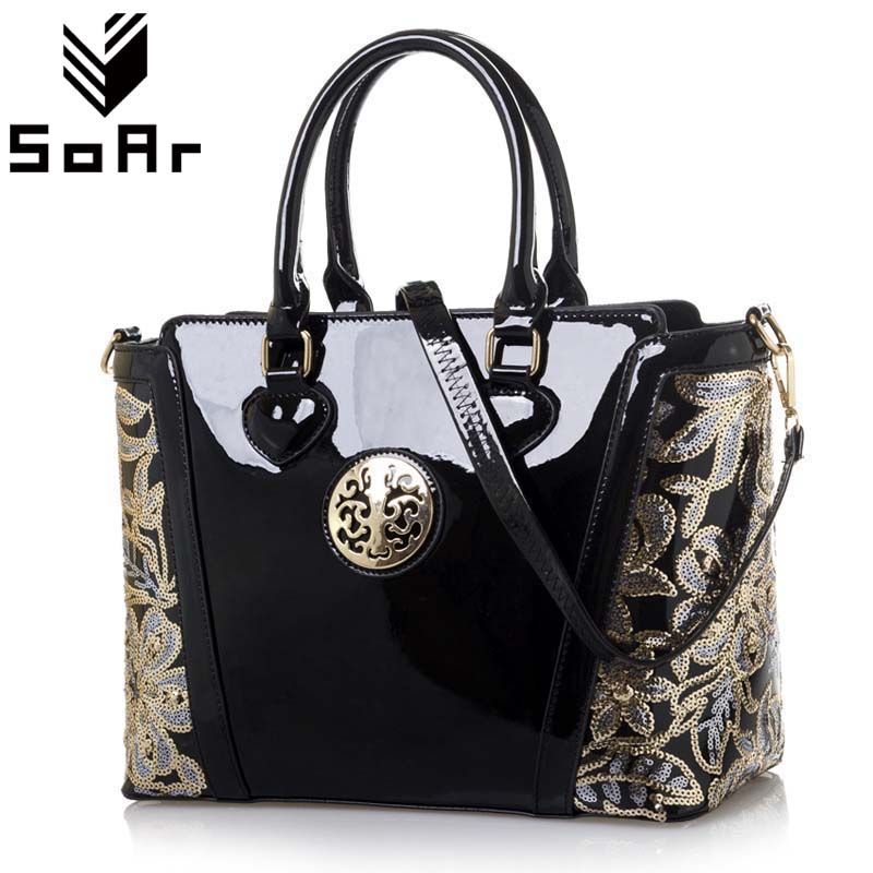 SoAr Women Bag Luxury Leather Shoulder Bags Handbags Women Famous Brands Sequined Female Messenger Bags Crossbody Fashion Totes sgarr fashion pu leather casual tote bag famous brands small women embroidery handbag shoulder bags luxury female crossbody bag