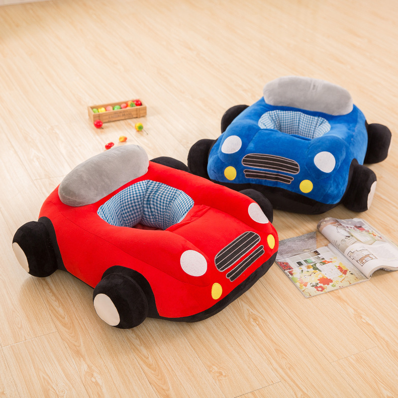 2019 New Soft Plus Car Sofa For Infant Baby Seat Sofa Sit Learning Chair Plush Skin Baby Car Sofa With Zipper Without PP Cotton