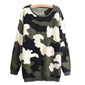 Classic Fashion Camouflage Print Army Green O Neck Loose Sweater Pullovers for Pregnant Women Soft Knitting Maternity Clothes