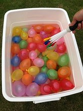 Water Balloons Refill Kit -3 sets Straws= 111piece Water Bombs Colorful Water Balloons For Party Children Kids Sand Toys