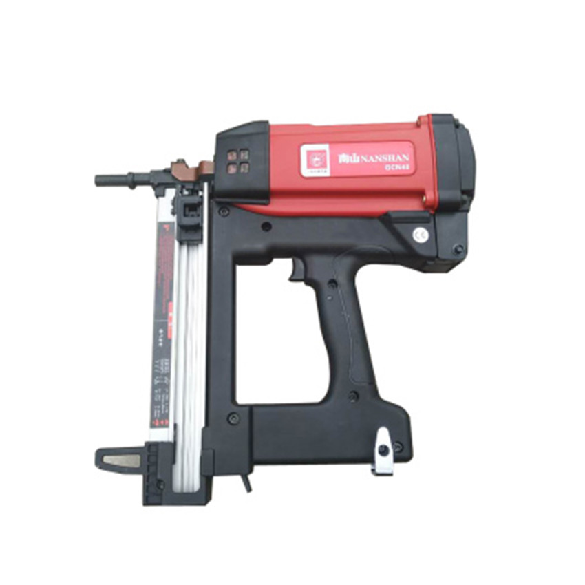 New High Quality GCN40 Gas Nail Gun Automatic Woodworking Doors Window Wire Slot Nailing Device Electric Nail Gun DV7.4V, 2.2AH