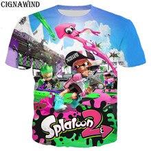 Nueva llegar novedad Splatoon 2 serie t camisa de los hombres las mujeres 3D  imprimir camisetas de moda casual hip hop camiseta . 93e9d6ee34100