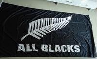 Флаг футбольной команды черного цвета, размер 90X150 см, 100% полиэстер,