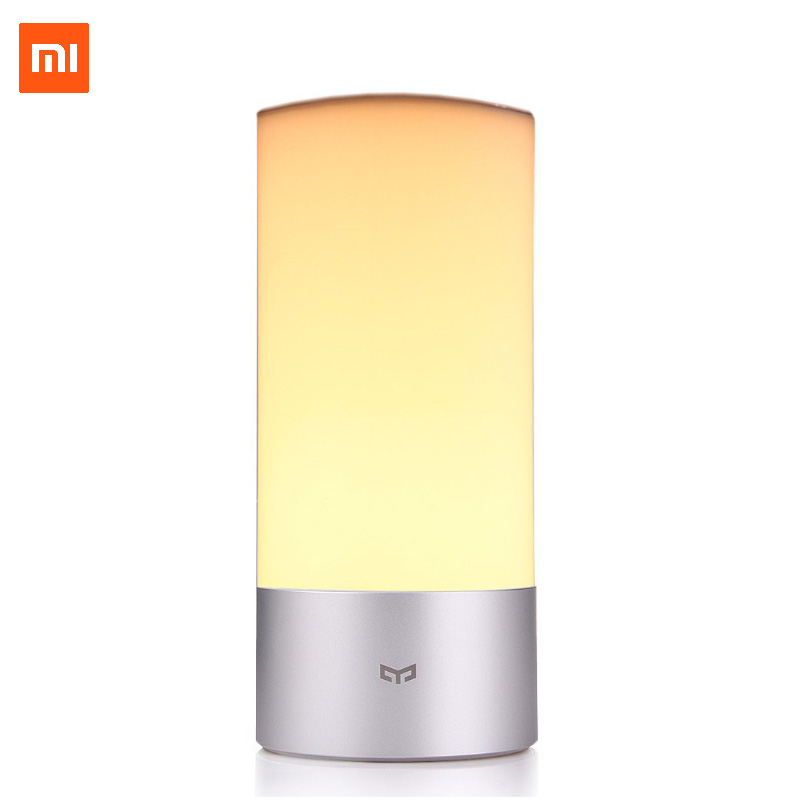 Xiaomi Yeelight Desk lamp Smart LED Bedside Table Cylinder Lamp Touch Dimmable Smartphone Remote Control Color Changing RGB original led night light kids table lamp 16 million rgb xiaomi mi yeelight smart wifi remote control touch sensor lights