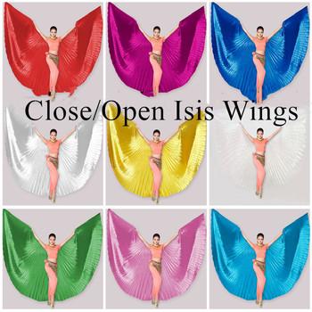 Gorący bubel tanie damskie profesjonalne brzuch kostium taneczny kąt Isis skrzydła złota nie kij 360 stopni otwarte skrzydła Isis duży rozmiar tanie i dobre opinie Ndrahi WOMEN W-1905 Taniec brzucha Poliester 360 Open