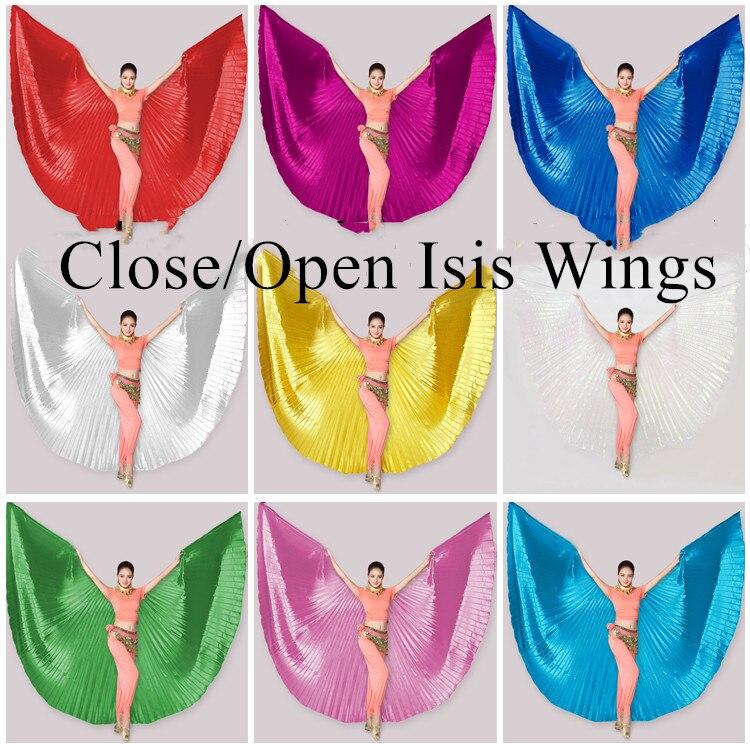 Venda quente barato feminino profissional dança do ventre traje ângulo isis asas de ouro sem vara 360 graus aberto isis asas tamanho grande