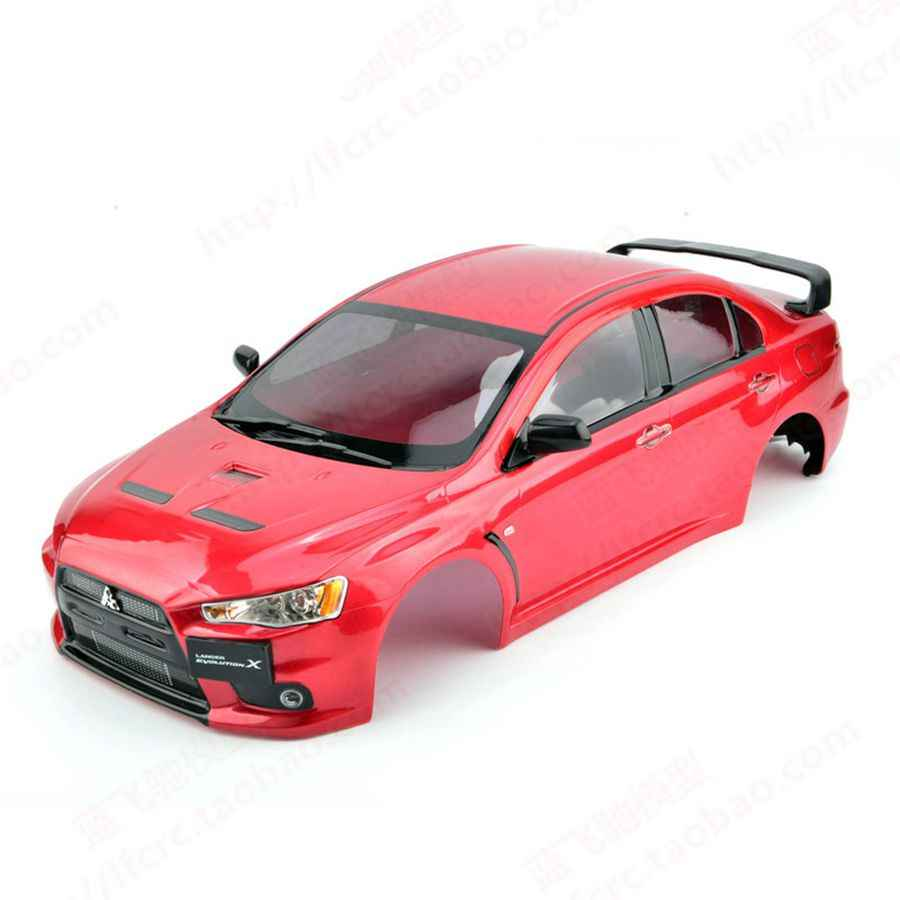 New 1/10 on road body shell 1:10 rc car Mitsubishuu EVO X Finished PC  Painted Body with sticker for Kyosho HPI Tamiya