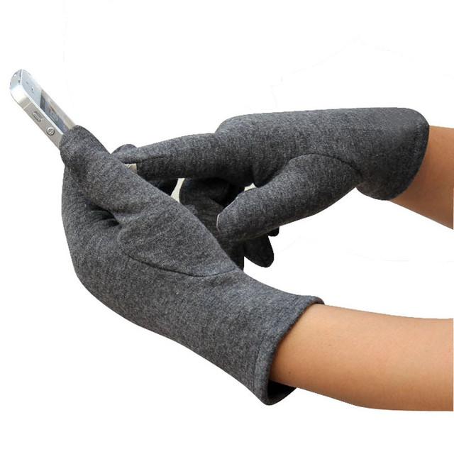Winter 4 Buttons  Cotton Gloves