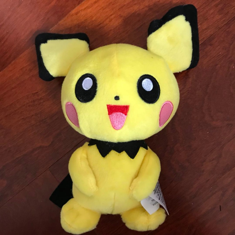 NEW Authentic Anime  Plush Pichu Spiky-eared Soft Toy Pikachu Stuffed Animal Doll Teddy 23cm Baby Dolls Brinquedos Gift панель декоративная awenta pet100 д вентилятора kw сатин
