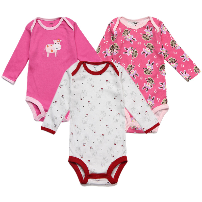 b8b8e460a 3 Pieces lot Baby Clothes Kid Jumpsuit Baby Boy Romper Girls ...