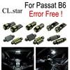 14pcs Canbus Error Free License Plate Light LED Lamp Interior Light Full Kit For Volkswagen VW