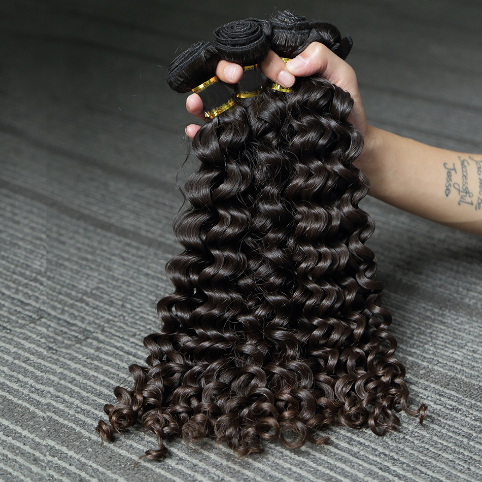 Poker Face  Mongolian Kinky Curly Hair Bundles Remy Human Hair Extensions Nature Color 1 3 4 Bundles 28 30 Inch Hair Bundles