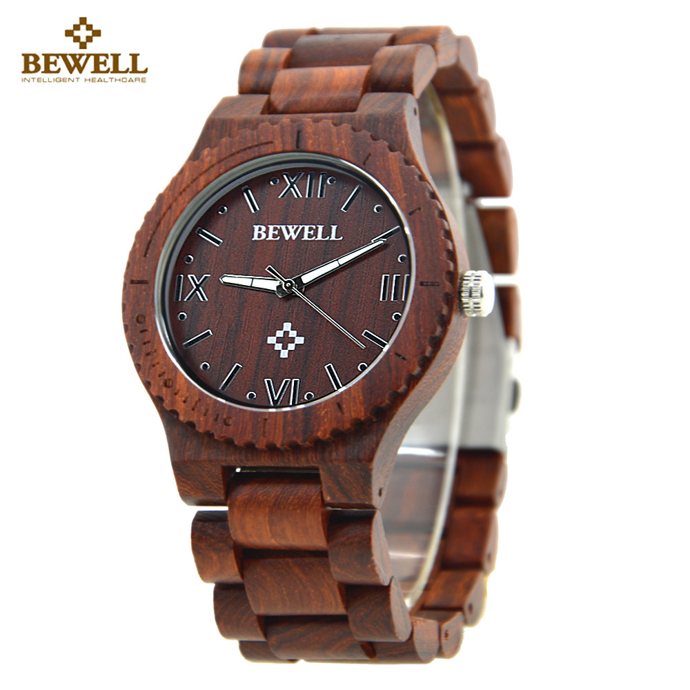 BEWELL Wood Watch Men Top Brand Designer Mens Watch Fashion Wooden Quartz Watches for Men Watch Gift Box relogio masculino 065A redear top brand wood watch men women wooden watches japan miyota fashion watch leather clock relogio feminino relogio masculino