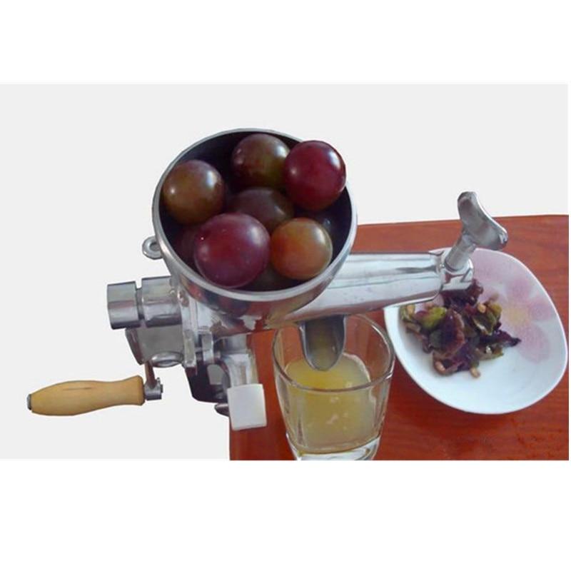 Wheatgrass fruit juicer tomato potato juice extractor juicing machine stainless steel hand wheatgrass juicer machine manual auger slow juice ideal for fruit vegetables orange juice extractor