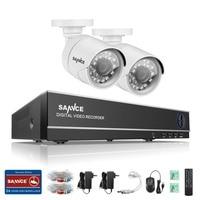 SANNCE 4CH 720P HDMI CCTV DVR Outdoor 1500TVL Video Camera Home Security System Surveillance Kits