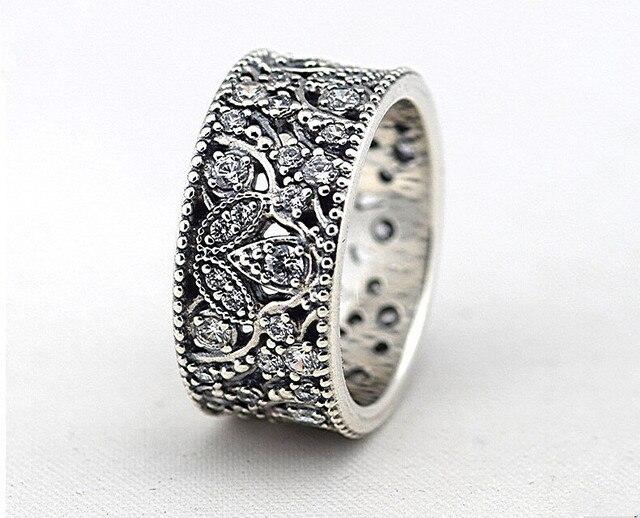 2015 ясно CZ мерцающий оставляет кольцо 925 серебряный лист кольца для женщин европейский бренд участие / свадьба ювелирных украшений