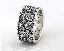 2015 borrar CZ Shimmering sale del anillo 925 Sterling Silver Leaf anillos para mujer de marca europea de compromiso / de la boda joyería fina