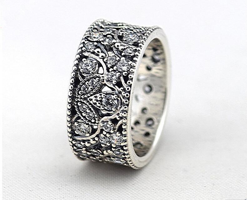 1d1d12b2239d 2015 borrar CZ Shimmering sale del anillo 925 Sterling Silver Leaf anillos  para mujer de marca europea de compromiso   de la boda joyería fina en  Anillos de ...