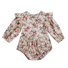 Для новорожденных одежда для малышей Обувь для девочек оборками Цветочные ползунки Детские комбинезоны одежда