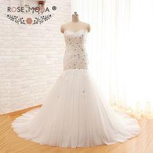 Rose Moda Strapless Crystal Mermaid Wedding Dress