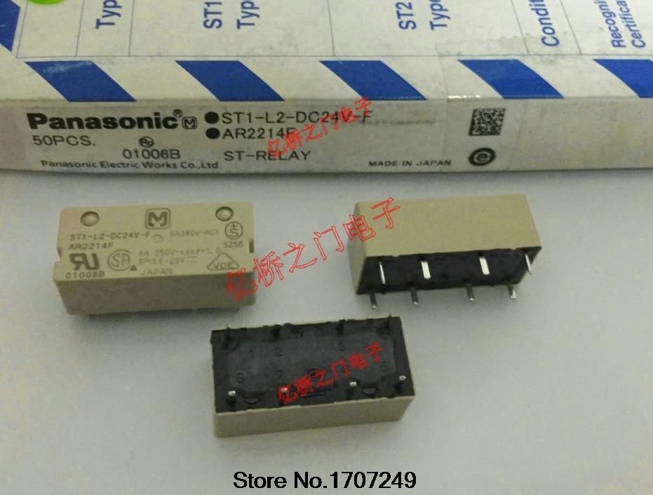 цена на Free Shipping 100% new original relay 10pcs/lot ST1-L2-DC24V-F 8A 380V 8P