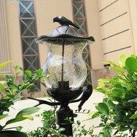 LEVOU ao ar livre do gramado instalação estigma villa jardim parque quadrado retro rua pátio criativo do pássaro em forma de lâmpada de rua à prova d' água Luminárias de parede externas     -