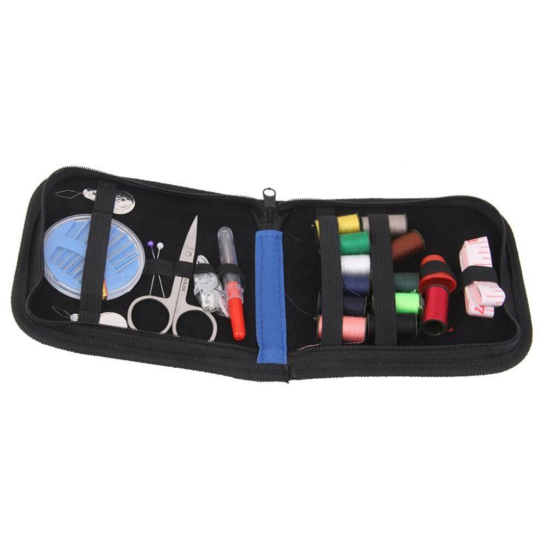Shop2939022 Store 25pcs Travel Sewing Kit Needles Thread Scissors Set with Blue Zipper Bag Home Travel Campers Emergency Premium Gift